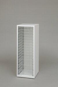 スチールフロアケース SFE-8123 ホワイト【A】 アイリスオーヤマ 小物収納 フロアケース 透明ケース 収納ケース 書類ケース レターケース 引き出し チェスト