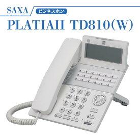 【新品】saxa サクサ PLATIAII 18ボタン多機能電話機 TD810(W) ホワイト ビジネスホン ビジネスホン