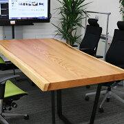 [新入荷]OFFICEPORTALオリジナル一枚板テーブルW2260杉会議テーブル