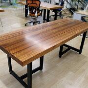 [新入荷]OFFICEPORTALオリジナル一枚板テーブルW2020ハワイアンウォールナット会議テーブル
