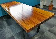 [店頭受取可]OFFICEPORTALオリジナル一枚板テーブル脚セットW2020ハワイアンウォールナットオフィス向け会議テーブル