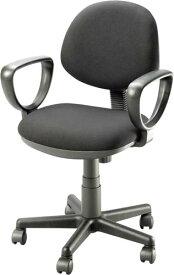 【オフィスチェア】事務用OAチェアコンパクトでカラフルな事務用チェアLFJ LR-2730A-BK布張り(ブラック) 肘付【お客様組立】