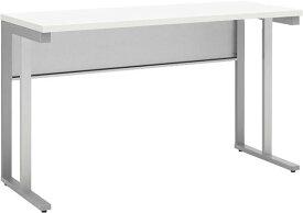 小さな机 奥行45cmのコンパクト平デスク壁際デスク スチールデスク ホワイト幅1200x奥行450x高さ700(mm)【お客様組立】WD-1245-WH