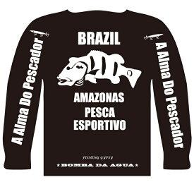 BOMBADA AGUA / ボンバダ・アグア 【 Dry Long Sleeveds PEACOCK / ドライロングスリーブ ピーコック 】 ロングTシャツ 初期に少量販売されたブラックモデル!(代引き不可・クリックポスト)