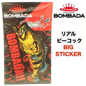 BOMBADA / ボンバダ  【 Real Peacock Big Sticker / リアルピーコックビッグステッカー 】 (代引き不可 クリックポスト / 同梱発送可)