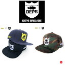 DEPS BRIGADE / デプス ブリゲード 【 SHIELD LOGO SNAPBACK HAT / シールド ロゴ スナップバック ハット 】 キャップ…