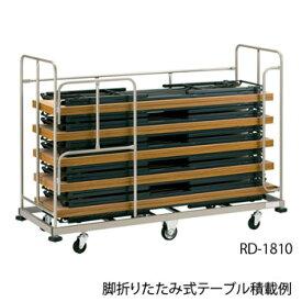 プラスジョインテックス 脚折りたたみテーブル用台車 RD-1810[W1970×D760×H1400mm][積載台数:10台まで可能][最大積載質量:260kg][コーナーバンパー付][キャスター付]※テーブルは商品に含まれておりません
