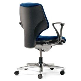 プラス製 ジロフレックス 64チェア(64-7078RCS)[giroflex 64][選べる全4色(布張り)][ローバック][L型肘付き][アルミ脚][カーペット用キャスター][受注生産][事務用回転椅子]オフィス,SOHO,役員室,会議室,ご自宅,市役所,公共施設,学校,病院向け