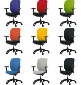 シルフィードチェア 1脚分 【 ハイバック 】 【 フレキシブルアーム 可動肘 肘付き 】 【 選べる張地カラー 全9色 】 【 完成品渡し 】 【 送料込み 】 事務用回転椅子 ライオン事務器チェア