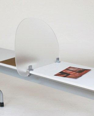PB-H アクリルプライバシースクリーン[クランプ式][W571×D55×H500(アジャスターを含まず・机上からの高さは455)mm][半透明色]【お客様組立】カウンター,デスク,テーブル向けの間仕切り,パーティション,ブラインド,衝立,スクリーン