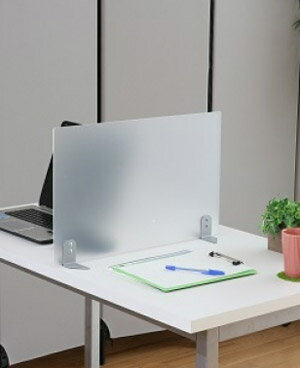 PB-H アクリルサイドパネル[据え置き型][W600×D133×H305mm][半透明色]【お客様組立】カウンター,デスク,テーブル向けの間仕切り,パーティション,ブラインド,衝立,スクリーン