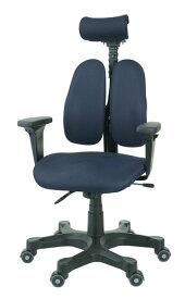 デュオレストチェア[DUOREST] LEADERS DR-7501SP[ブルー(KNIT BLUE)][ヘッドレスト/可動肘付][背もたれ上下左右調節][リクライニング機構][ガス圧上下昇降][事務用回転椅子]オフィス,SOHO,書斎,パソコン,会議室,病院,設計事務所,学校,学習塾向け