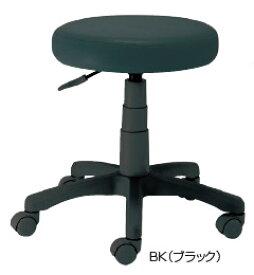 ナカバヤシ ラウンドOAチェア RZR-112BK[ブラック][PVCレザー張り][座面上下昇降][ナイロンキャスター][組立家具]オフィス,SOHO,ご自宅,医療,福祉施設,病院,学校・学習塾向け