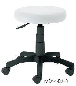 ナカバヤシ ラウンドOAチェア RZR-112IV[アイボリー][PVCレザー張り][座面上下昇降][ナイロンキャスター][組立家具]オフィス,SOHO,ご自宅,医療,福祉施設,病院,学校・学習塾向け