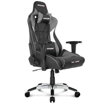 AKRACING(エーケーレーシング) ゲーミングチェア Pro-X Gaming Chair (Grey)[グレー色][ハイバック][可動肘付][リクライニング][座面昇降][PUキャスター][組立家具]オフィス,SOHO,パソコン,自宅,医療,福祉施設,公共施設,学校,学習塾,eスポーツ向け