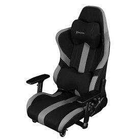 Bauhutte(R) ゲーミング座椅子 LOC-950RR-BK ブラック&グレー ハイバック 4Dアームレスト 3Dランバーサポート 3Dヘッドレスト ナイロンキャスター(ストッパー付) 組立家具 パソコンチェア,パーソナルチェア,長時間作業,プロゲーマー,eスポーツ向け