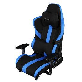 Bauhutte(R) ゲーミング座椅子 LOC-950RR-BU ブルー&ブラック ハイバック 4Dアームレスト 3Dランバーサポート 3Dヘッドレスト ナイロンキャスター(ストッパー付) 組立家具 パソコンチェア,パーソナルチェア,長時間作業,プロゲーマー,eスポーツ向け