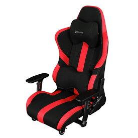 Bauhutte(R) ゲーミング座椅子 LOC-950RR-RD レッド&ブラック ハイバック 4Dアームレスト 3Dランバーサポート 3Dヘッドレスト ナイロンキャスター(ストッパー付) 組立家具 パソコンチェア,パーソナルチェア,長時間作業,プロゲーマー,eスポーツ向け