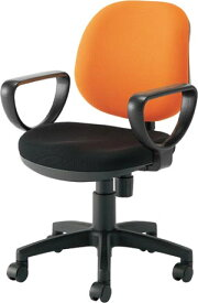関家具 オフィスチェア カララ[Karara][オレンジ色(布張り)][肘付][ローバック][ナイロンキャスター][座面昇降][リクライニング機構搭載][組立家具]オフス,SOHO,オフィス,SOHO,病院・福祉施設,ご自宅向け