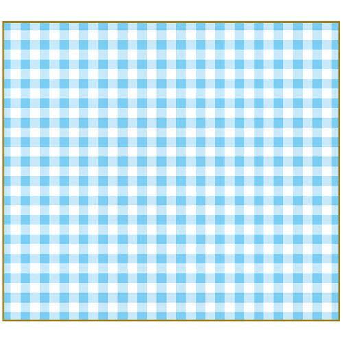 【セキセイ】 フォト色紙 マドなし チェックブルー PS-4007-00 【ノート・紙製品】 【色紙・賞状用紙】