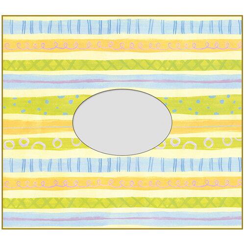 【セキセイ】 フォト色紙 1マド付 ボーダー PS-4106-00 【ノート・紙製品】 【色紙・賞状用紙】