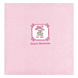 【ナカバヤシ】 フエルアルバム 誕生用ゴールドベアー ア-LB-407-P ピンク 【アルバム】 【フリー台紙アルバム(差替式)】