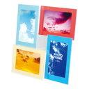 【ナカバヤシ】 樹脂製 フォトフレーム 写真立て ポストカード 4面 フ-TP-211-4W 【掲示用品】 【フレーム・額縁】