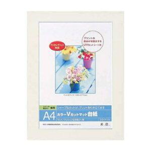 【ナカバヤシ】 DigioカラーVカットマット台紙 写真台紙 A4サイズ ホワイト DGVM-A4-W/V 【アルバム】 【写真台紙】