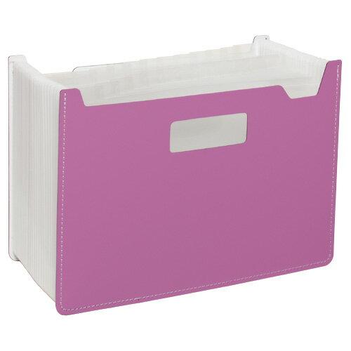 【セキセイ】 パピエリ ドキュメントスタンド ワイド 25P ピンク FB-2382-21 【ボックスファイル】 【デスクトップ収納品】