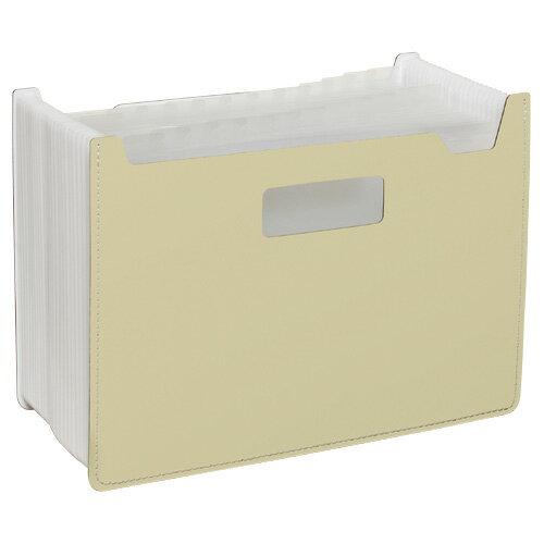【セキセイ】 パピエリ ドキュメントスタンド ワイド 25P クリーム FB-2382-52 【ボックスファイル】 【デスクトップ収納品】