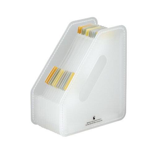 【セキセイ】 セマック ドキュメントスタンド ポストカードタテ ホワイト MA-3070-70 【ボックスファイル】 【デスクトップ収納品】