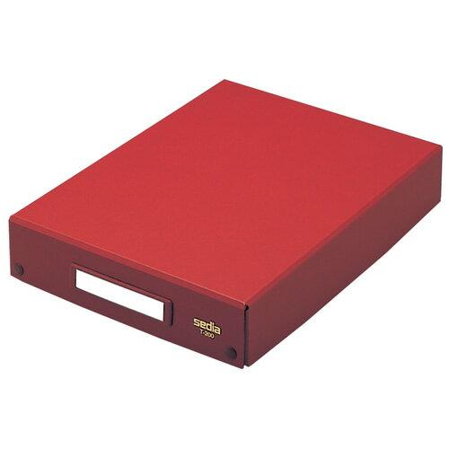 【セキセイ】 デスクトレー A4 茶 T-200-01 【ボックスファイル】 【収納・保存箱】