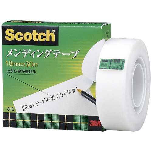 【J-463432】【住友スリーエム】メンディングテープ 810-1-18 18mm×30m【テープ類】