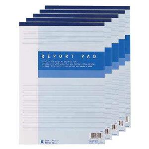 【J-160801】【ジョインテックス】レポート用紙5冊パック A4B罫 P008J-5P【ノート】