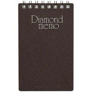 【J-225910】【ミドリ】ダイヤメモ 19002-011 M 黒【メモ・付箋】