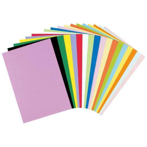 【J-281374】【リンテック】色画用紙 4ツ切 100枚 NC325-4 ぼたん【画用紙・方眼紙】