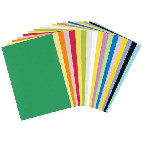 【J-324304】【大王製紙】再生色画用紙 4ツ切 10枚 レモン【画用紙・方眼紙】