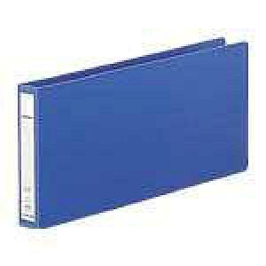 【J-535992】【LIHITLAB】パンチレスファイル F-370 統一伝票用 藍【ファイル】