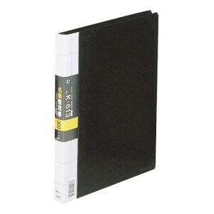 【J-422911】【コレクト】名刺整理帳 K-613-BK A4L 300枚用 黒【用途別ファイル】