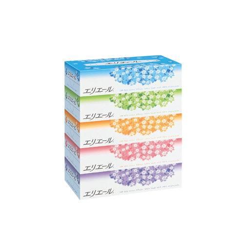 【J-179912】【大王製紙】エリエール ティッシュー 5箱【衛生紙】