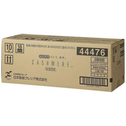 【個別送料】【J-341633】【クレシア】スコッティ ティッシュ カシミヤ220 10箱【衛生紙】