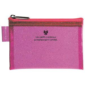 【セキセイ】マリング ポーチ <デコチラ> CARDサイズ ピンク MR-1730-21 【ケースバッグ】 【ケース】