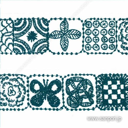 【あす楽】【カモ井加工紙】 mt ミナペルホネン <forest tile・blue> MTMINA29 【スクラップブッキング】 【マスキングテープ/マステ】