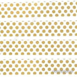 【メール便対応】【カモ井加工紙】 mt 1P <ドット・金> MT01D365 【スクラップブッキング】 【マスキングテープ/マステ】