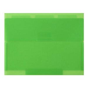【セキセイ】 ネオンワン ルーズリーフケースB5 <グリーン> NE-5435-30  【ファイル】 【穴をあけずにとじるファイル】