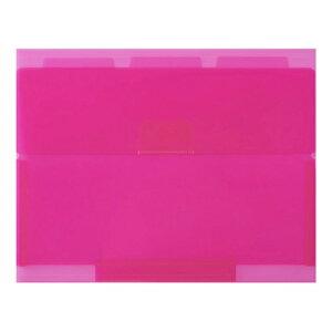 【セキセイ】 ネオンワン ルーズリーフケースB5 <ピンク> NE-5435-21  【ファイル】 【穴をあけずにとじるファイル】