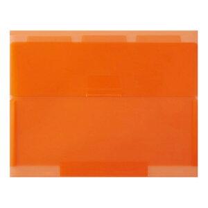 【セキセイ】 ネオンワン ルーズリーフケースB5 <オレンジ> NE-5435-51  【ファイル】 【穴をあけずにとじるファイル】