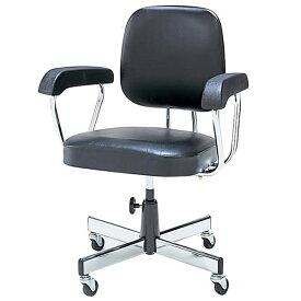 生興 Tシリーズ 背ロッキングタイプ ネジ上下式 肘付 ビニールレザー張り T260C [オフィスチェア 事務用チェア オフィス用品 オフィス用 オフィス家具 チェア 椅子 イス 事務椅子 デスクチェア パソコンチェア]