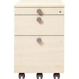 Garage ワゴン 3段 fantoni GL-046W3 白木 [白色 ホワイト キャビネット デスク デスク収納 脇机 収納家具 オフィス収納 オフィス家具 オフィス用 オフィス用品]