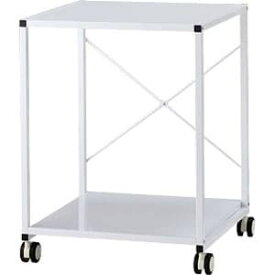 Garage プリンターラック2段 YS-75 白 ホワイト [白色 収納家具 オフィス家具 オフィス用 オフィス用品 オフィス収納]